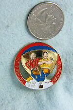 HOT AIR BALLOON LAPEL PIN FATHER AND SON CONSTRUCTION WE DO IT ALL