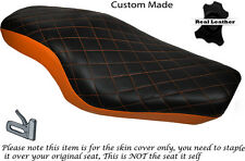 TWOTONE DIAMOND ORANGE CUSTOM FOR HARLEY SPORTSTER 883 1200  DUAL SEAT COVER