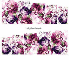 Nail Art Nageldesign Water Transfer Nagel Sticker Full Cover Blume STZ-369
