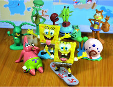Sponge Bob Square pants PVC Figures Toys Cut Patrick Squidward Party 8 Pcs Set/G