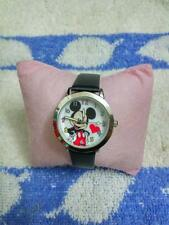 New Mickey Mouse Leather Wrist Watch Lady Girl Women Teens Kids Watches black