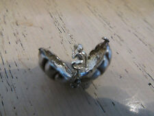 RARE VINTAGE STERLING SILVER BRACELET CHARM CLAM SHELL OPENS TO A MERMAID