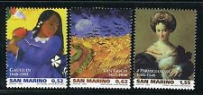 SAN MARINO 2003 ARTE-PAINTINGS/GAUGIN/VAN GOGH/PARMIGIANINO/ART/FAMOUS PEOPLE