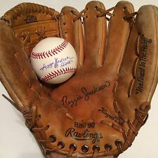 "Vintage Reggie Jackson Rawlings Glove With Signed Baseball ""563 HR's"" JSA"