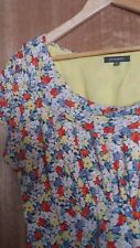 Floral EMILY AND FIN Dress - womens Size L/ Large & Cowl neck