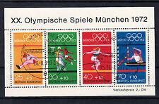 BRD Briefmarken 1972 Olympia München Mi.Nr.734-37 Block 8