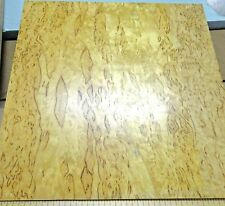 "Karelian Birch Burl prefinished on 1/2"" x 11.5"" x 11.5"" MDF with paper backer"