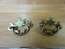 2 Drexel Brass Chippendale End Table Night Stand Hardware Handles Pulls Knobs B