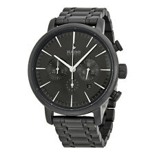 Rado DiaMaster XXL Automatic Chronograph Black Dial Black Ceramic Mens Watch