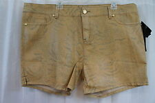 "Baby Phat Shorts Sz 22 Gold Multi Printed Stretch ""Sultry Nomad"" Casual Shorts"