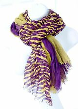 NEW! LSU Scarf Triple Layer: Purple and Gold and Tiger Stripes. GEAUX Tigers!!