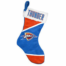 "Oklahoma City Thunder Holiday 17"" Christmas Stocking NBA! Team Logo New for 2014"