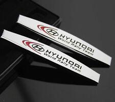 2pcs 3D Metall Auto Schriftzug Aufkleber Emblem für Schutzblech Sports chrome
