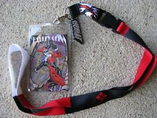Harley Quinn DC Comics Lanyard ID Badge Ticket Holder Batman Joker Villian