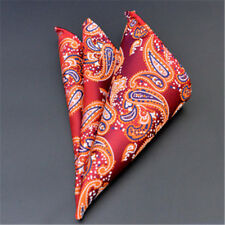 Men's Pocket Square Hankerchief Satin Solid Floral Paisley Dot Hanky Party F23