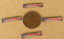 1:12 Scale 4 Crunchie Chocolate Bar Packets Doll House Miniature Sweet Accessory