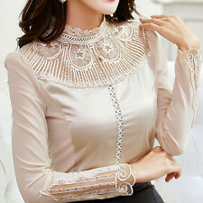 Sexy Winter Korean OL Business Lace Crochet Blouse Slim Tops Shirts A+++