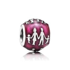 Authentic PANDORA  Charm S925 Silver Family Bonds Red Enamel 791399en62