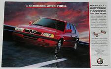 Advert Pubblicità 1992 ALFA ROMEO 33 PERMANENT 4