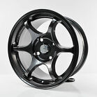 4pcs ADVAN RACING RG2 GUN METAL Alloy Wheel 15 4X114.3 RIM KT06