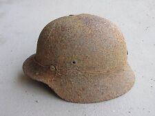 Original WW2 German M40 Helmet with Camo Wire