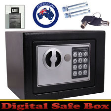 Personal Electronic Digital Security Small Safe Box Access Black Home Office New