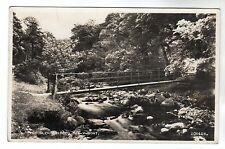 Glen Bridge - Tal Y Bont Real Photo Postcard 1958