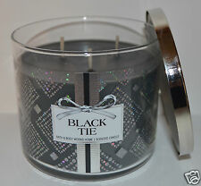 NEW BATH & BODY WORKS BLACK TIE SCENTED CANDLE 3 WICK 14.5 OZ SAGE SANDALWOOD
