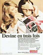 PUBLICITE ADVERTISING 115  1971  EUMIG  la mini-caméra