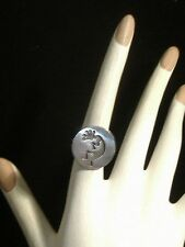 Vintage Native American HOPI Kokopelli Sterling Silver Ring *size 5 1/2