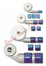 RPC R6677 Braided Hose Sleeving Kit Blue Stainless Steel Hose Covers