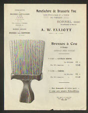 """BORNEL (60) USINE du PARADIS / BROSSERIE FINE pour COIFFEUR """"A. W. ELLIOTT"""""""