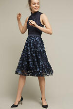 NWT ANTHROPOLOGIE Blue Buttercup Midi Tulle Skirt By Eva Franco size 10