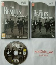 THE BEATLES ROCKBAND (WII) & u-loads di superba COLEOTTERI tracce originali = NEAR MINT ✔