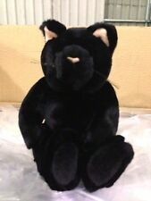 "$24reg NEW Deluxe 11"" HALLOWEEN BLACK CAT KITTEN- Velvety stuffed animal toy S01"