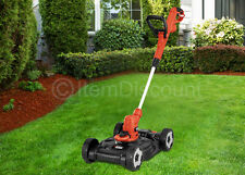 "BlackDecker 12"" Electric Small Lawn Mower String Trimmer Grass Edger Weed Wacker"