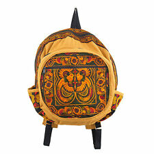 Ethnic Bookbag Hmong Backpack Hill Tribe Embroidered Bird Pattern Thai Hobo Boho