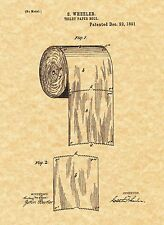 Patent Print - Toilet Paper Roll 1891 Bathroom Art. Ready To Be Framed!