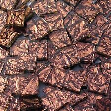 """100+ Van Gogh Stained Glass Mosaic Tiles Copper Sparkle 1/2"""""""