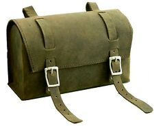 Leather Vintage box Different look Bicycle Round Saddle Bag Utility Cycle gift $