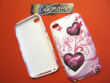 2x CUSTODIE COVER IN SILICONE TPU PER APPLE IPOD TOUCH 4° CUORI ROSA PINK HEART