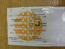 18/11/1972 Ticket: Wolverhampton Wanderers v Ipswich Town. Thanks for viewing ou