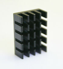 10pc x 14*19*7mm Aluminum Mini Black Heat Sink Chip for IC LED Power Transistor