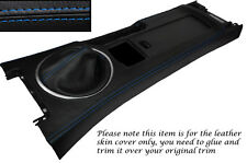 BLUE STITCH CENTRE CONSOLE & GEAR GAITER SKIN COVERS FITS MAZDA MX5 MK3 05-13