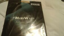 NEW wolford Miss W Light Support Tights XXL extra size oyster  color