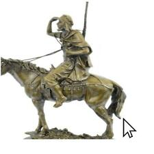 Bronze Sculpture Antoine Barye Arab On Horse Morrocan Hunter Deco Sculpture Sta