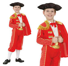 Childrens Matador Fancy Dress Costume Bull Fight Spanish Outfit Childs Kids M