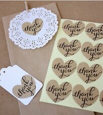 Thank You Heart Shape Sticker - Wedding Favours - Gift Wrap