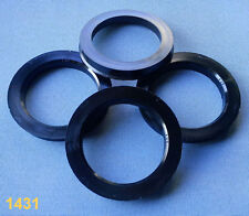 (1431) 4x  Zentrierringe 76,0 / 57,1 mm schwarz