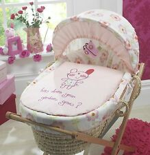 pink girls Lollipop Lane Upsy Daisy moses basket dressing set new 3pc
